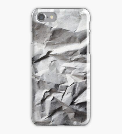 Crumpled Up Paper Texture iPhone Case/Skin
