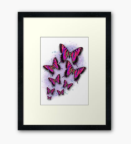 Carrie's Butterflies Framed Print