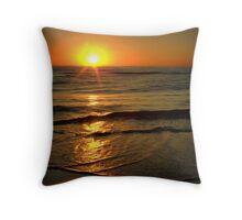 Sun rising above horizon Throw Pillow