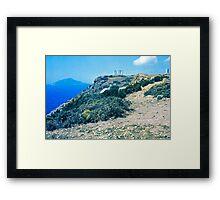 Climbing Cape Sounion, Attica, Greece Framed Print