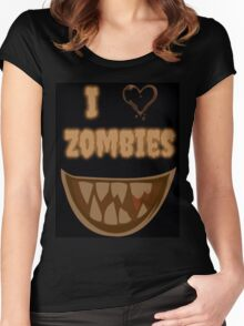 I Heart Zombies (black) Women's Fitted Scoop T-Shirt