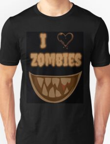 I Heart Zombies (black) T-Shirt