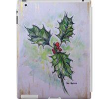 Ilex aquifolium or Holly iPad Case/Skin