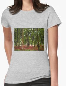 Beautiful Forest landscape Womens Fitted T-Shirt