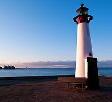 Lighthouse in Assens Denmark by Ron Zmiri