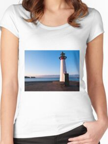 Lighthouse in Assens Denmark Women's Fitted Scoop T-Shirt
