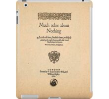 Shakespeare's Much Ado About Nothing Front Piece iPad Case/Skin