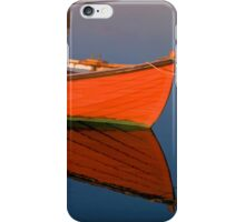 Small dinghy dory floating in the water iPhone Case/Skin
