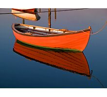 Small dinghy dory floating in the water Photographic Print