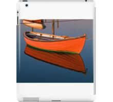 Small dinghy dory floating in the water iPad Case/Skin
