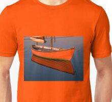 Small dinghy dory floating in the water Unisex T-Shirt