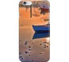 Reflection of a small dinghy dory boat iPhone Case/Skin