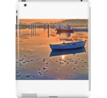 Reflection of a small dinghy dory boat iPad Case/Skin