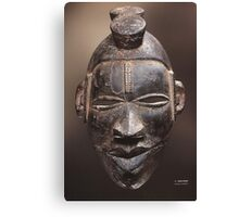 African tribal mask of Ogoni people in Nigeria Canvas Print