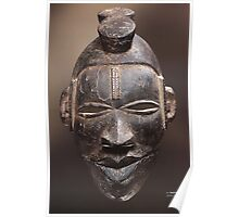African tribal mask of Ogoni people in Nigeria Poster