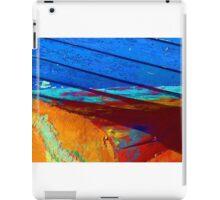 Rusty grunge aged steel iron paint background iPad Case/Skin