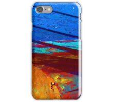 Rusty grunge aged steel iron paint background iPhone Case/Skin