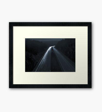 Autobahn Framed Print