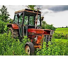 Old vintage tractor digital art manipulation Photographic Print