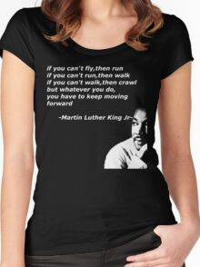 martin luther king jr t-shirt Women's Fitted Scoop T-Shirt