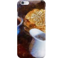 Classical breakfast outmeal waffer and jam  iPhone Case/Skin