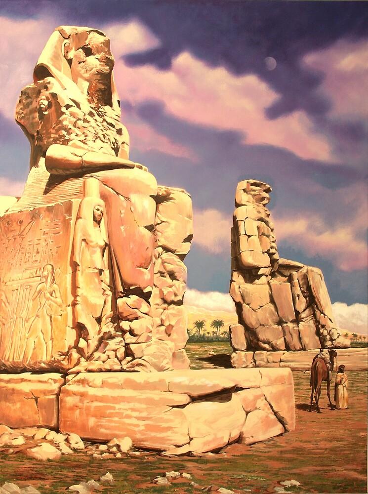 Colossus of Memnon by Plamen Dimitrov