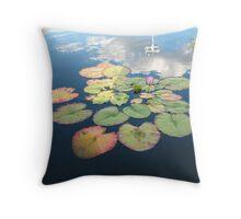 Sunset lilies Throw Pillow