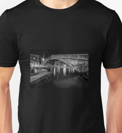 Venitian Bridge in mono  Unisex T-Shirt