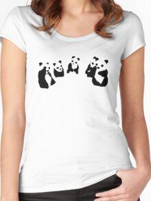 PANDA t-shirt Women's Fitted Scoop T-Shirt