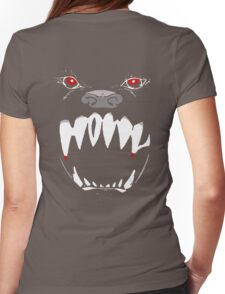 Howl (On Black) Womens Fitted T-Shirt