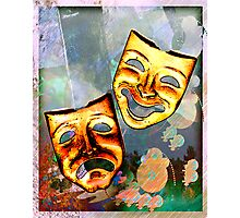 Comedy Tragedy Photographic Print