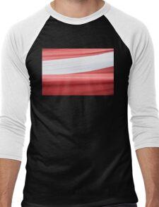 Latvian flag Men's Baseball ¾ T-Shirt