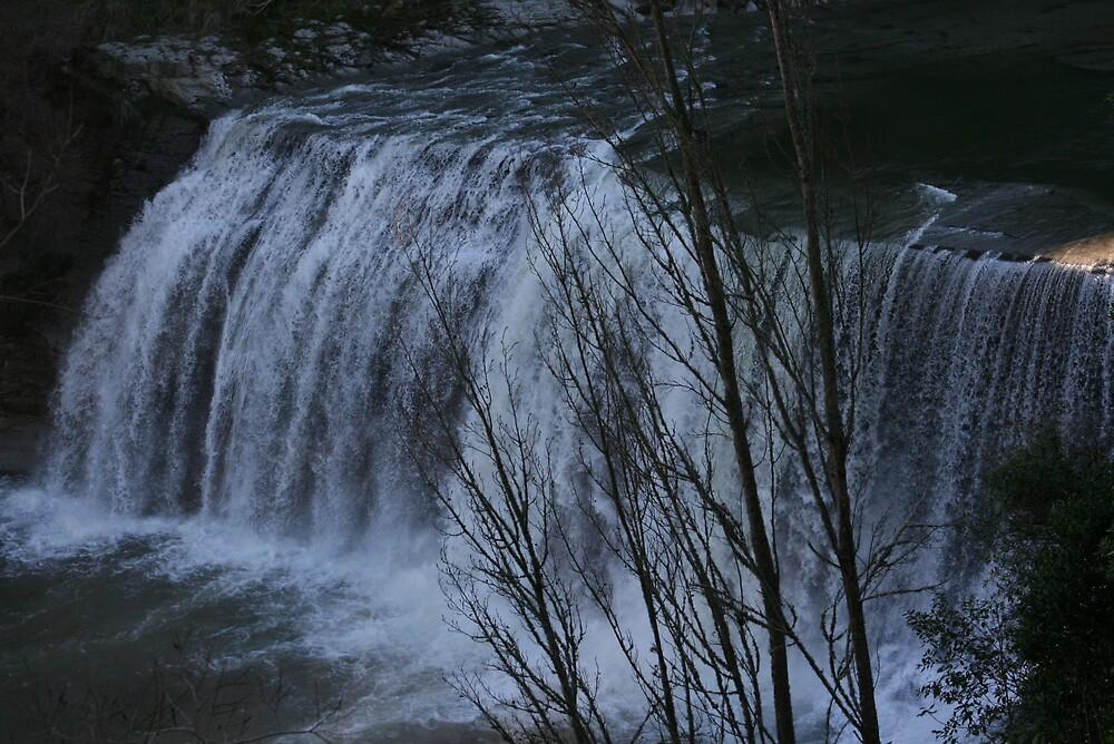 Winters Water Fall by mickey altmann