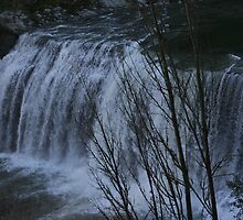 Winters Water Fall by mickey altmann