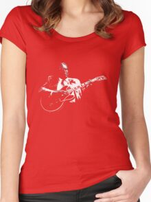 B B KING T-SHIRT Women's Fitted Scoop T-Shirt