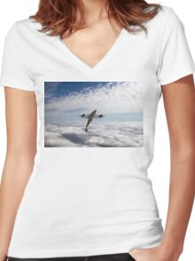 Slipping the surly bonds Women's Fitted V-Neck T-Shirt