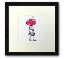 Tomato Face Framed Print