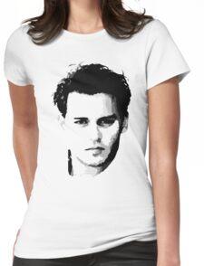 johnny depp t-shirt Womens Fitted T-Shirt
