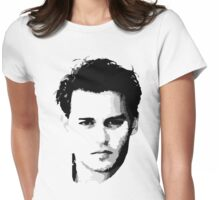 johnny depp t-shirt Womens Fitted T-Shirt