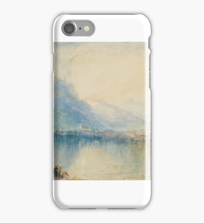 Joseph Mallord William Turner    Arth, on the Lake of Zug. Early Morning, iPhone Case/Skin