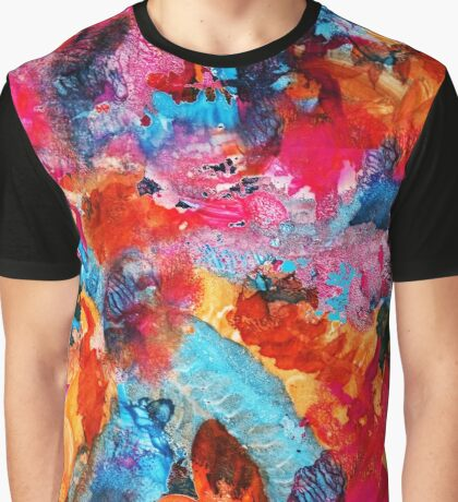Hot and cold watercolor life pattern Graphic T-Shirt