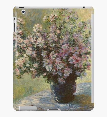 Claude Monet - Vase Of Malva Flowers, 1880 iPad Case/Skin