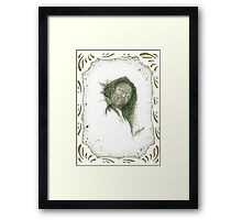 Donna -  with Boarder Framed Print