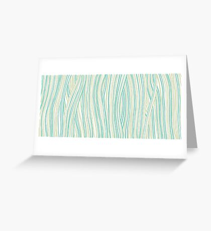 Funky stripes, white and green Greeting Card