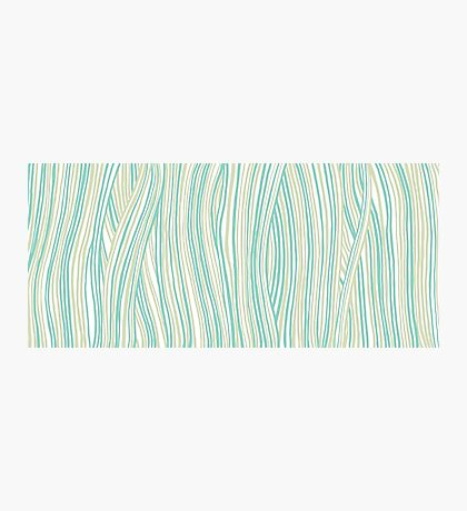 Funky stripes, white and green Photographic Print