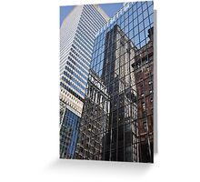Skyscraper Reflections - New York City Greeting Card
