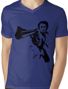 DIRTY HARRY T-SHIRT ON LITE Mens V-Neck T-Shirt