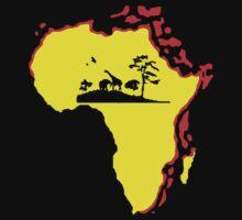 african sunrise t-shirt One Piece - Short Sleeve