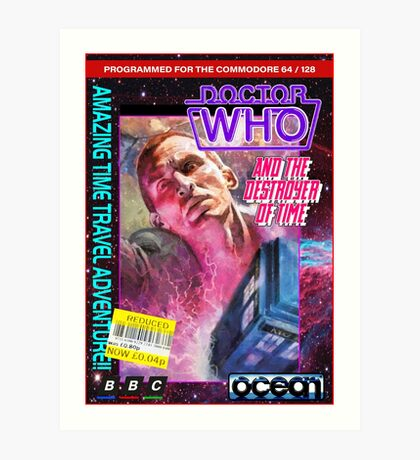 9th Doctor Commodore 64 Video Game Cover! Art Print