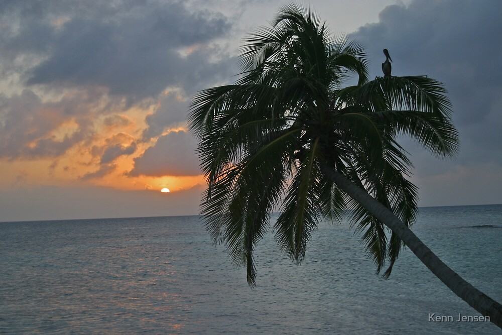 Belize Sunset by Kenn Jensen